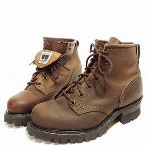 Frye Womens USA Made Lug Sole Boots Sz 8M $398.00